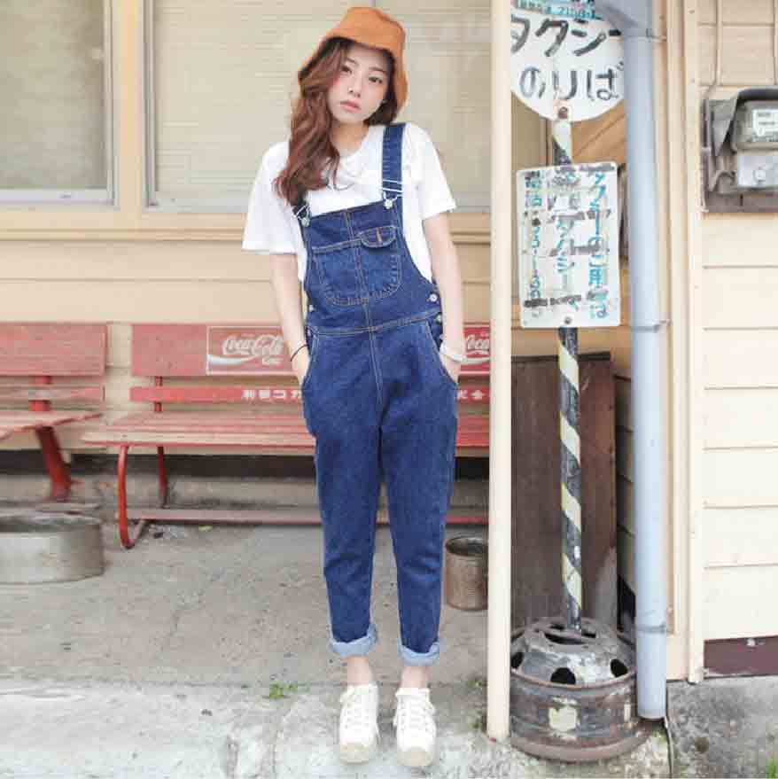 f3987cbcfb35 Blue denim overalls and jeans jumpsuits for girls in Pakistan 2017 with  white shirt