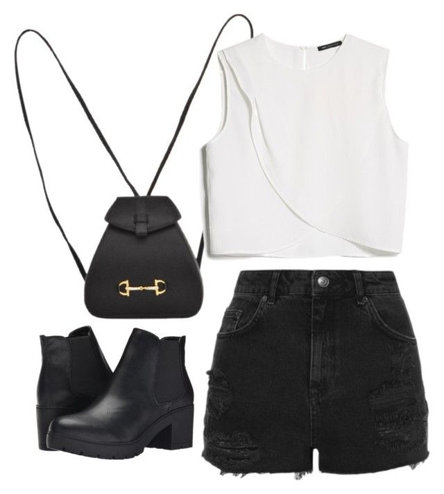 """""""Untitled #639"""" by adrianne21 ❤ liked on Polyvore featuring Gucci, MANGO, Topshop and Steve Madden"""
