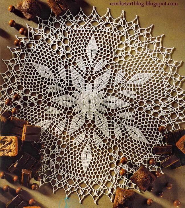 Crochet Art Crochet Lace Doilies Crochet Flower Free Pattern