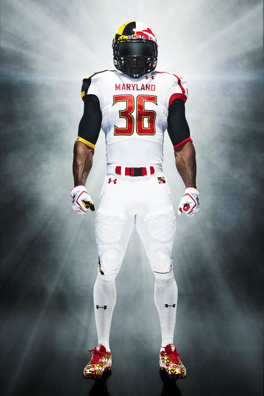 baae24995c1 Under Armour University of Maryland Pride Uniforms   Cleats ...