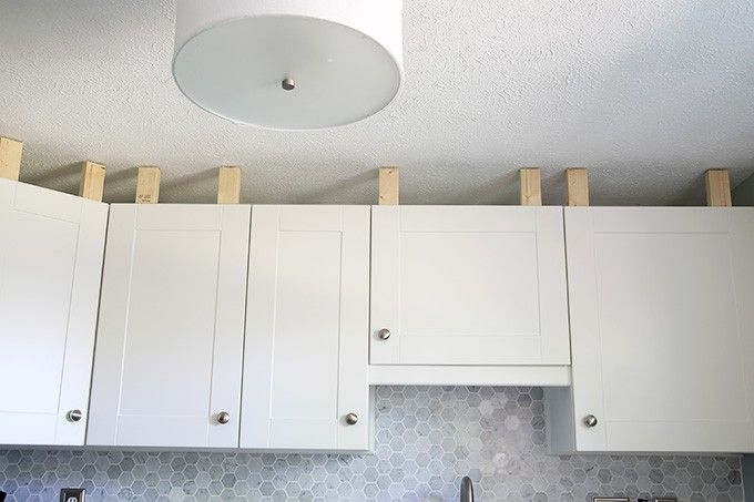 How to Add Crown Molding to Kitchen Cabinets | Ikea kitchen ...