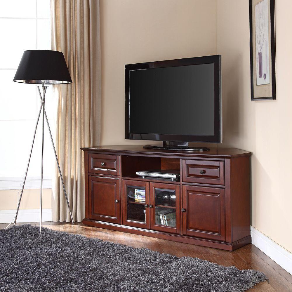 Crosley Mahogany Entertainment Center Brown Corner Tv Cabinets