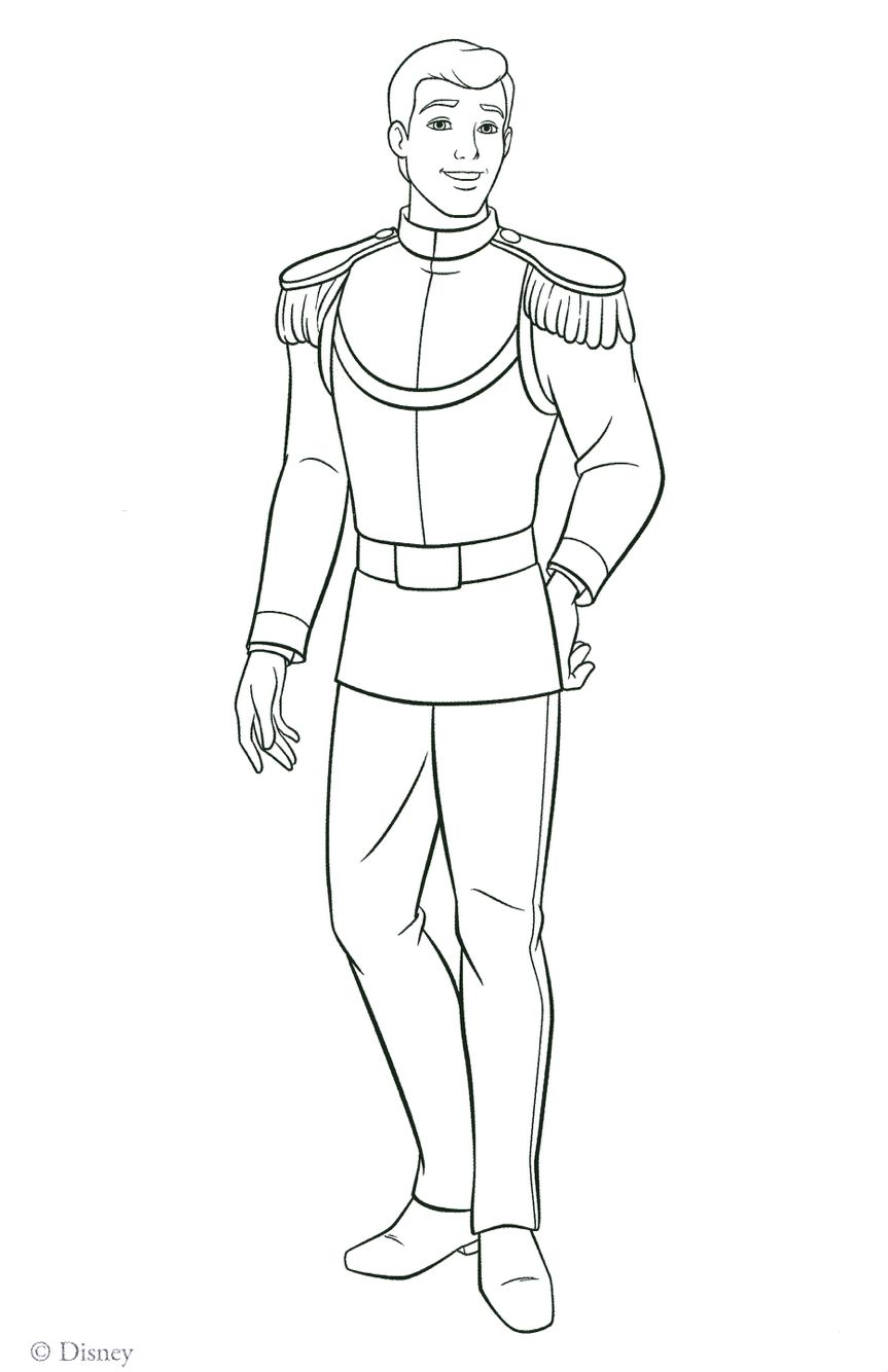 Prince Charming Cinderella Coloring Pages Disney Coloring Pages Princess Coloring Pages