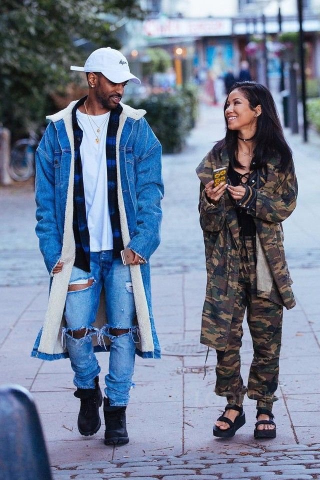 Big Sean wearing Fear of God Denim Shearling Coat 011ff9c3af315