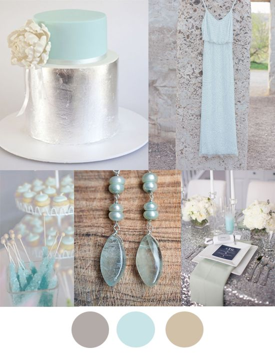 Silver Mint And Taupe Wedding Colour Inspiration