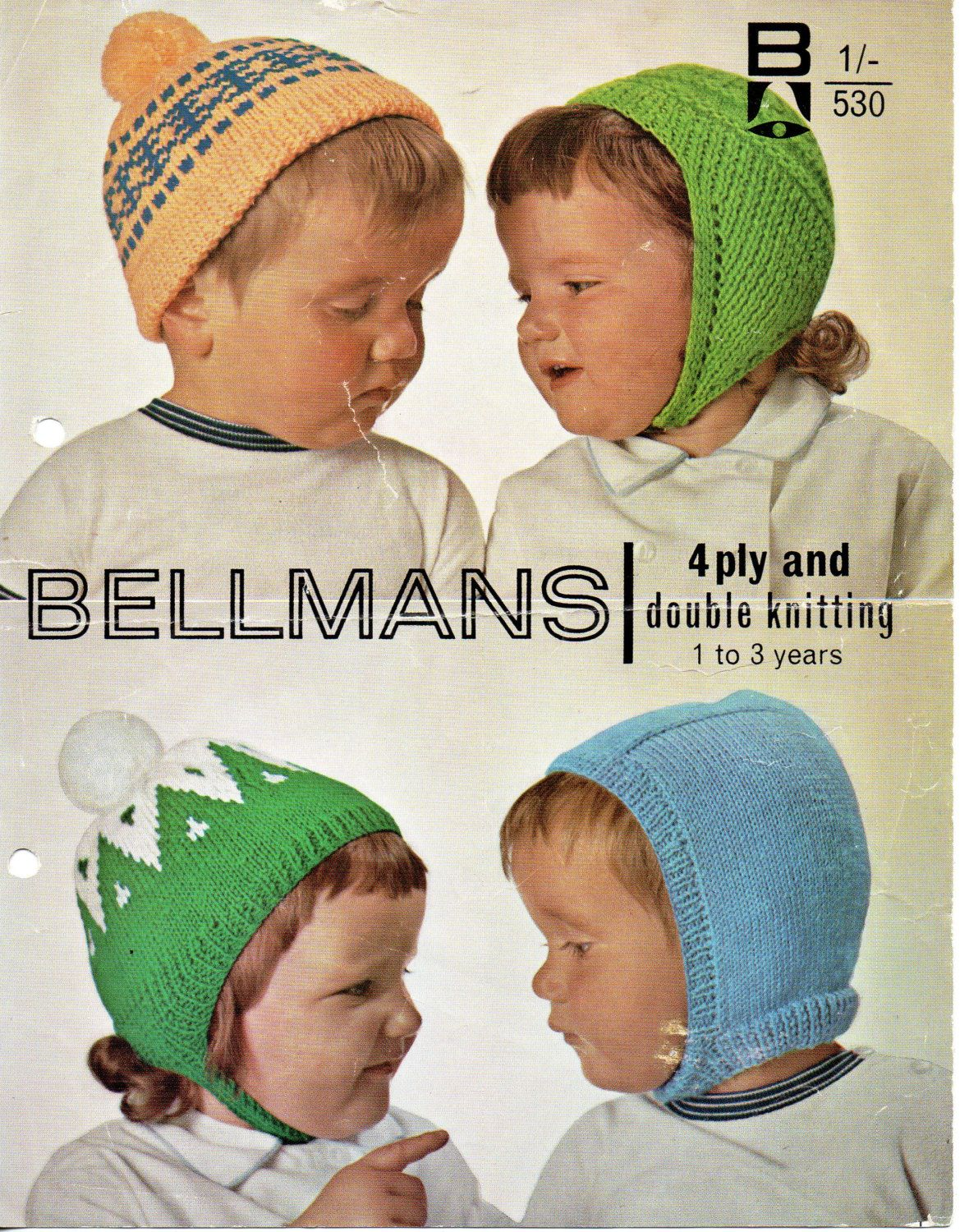 baby / Childs hats knitting pattern PDF fair isle cap helmet bonnet ...
