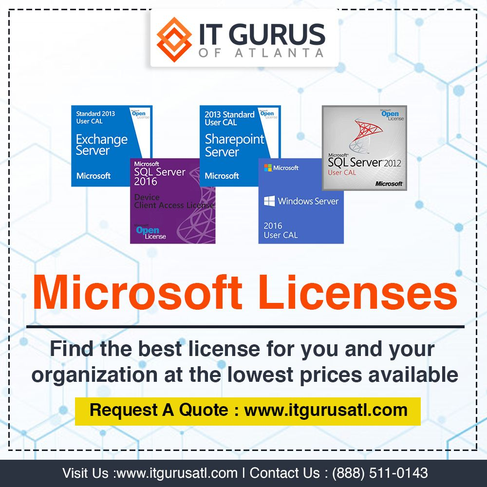 Find the best license for you and your organization at the