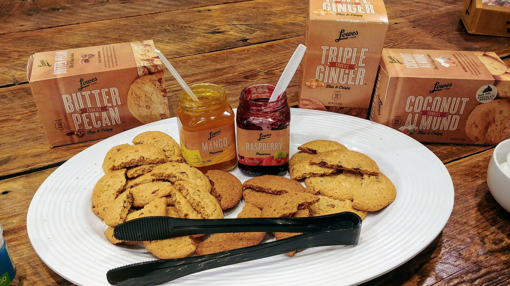 Our Lowes Foods cookies go great with our preserves. Mix
