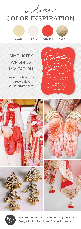 The Simplicity Wedding Invitations | Indian wedding invitations ...