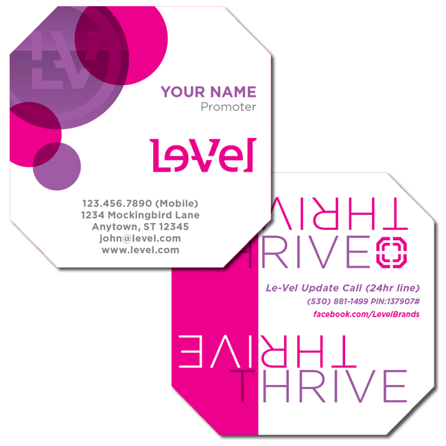 Le Vel Thrive Dft Shaped Business Card Kndraproctor