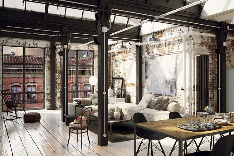 7 Industrial Design Ideas For A Modern Home Loft Style