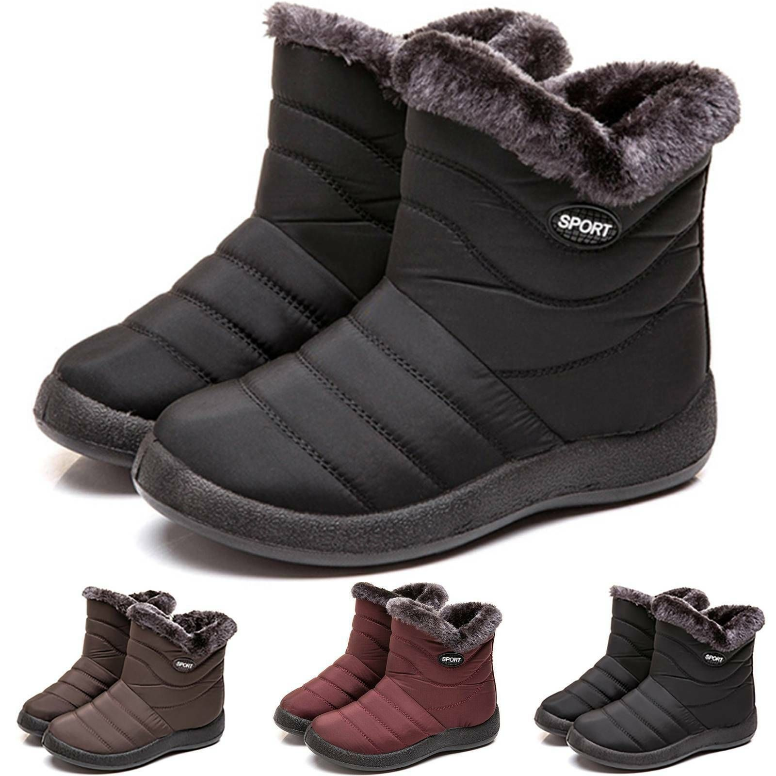 Damen Stiefeletten Warm Gefuttert Thermo Wasserdicht Stiefel Boots Winterschuhe Stiefeletten Ideas Of Stiefeletten St Cozy Shoes Boots Waterproof Sneakers