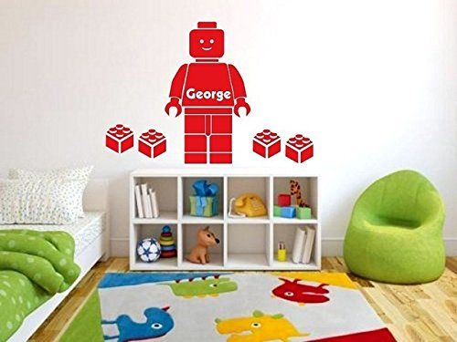Customer-made Lego Wall Sticker Personalised BOYS personalized NAME Bedroom Wall Art Decal/Sticker  sc 1 st  Pinterest & Customer-made Lego Wall Sticker Personalised BOYS personalized NAME ...