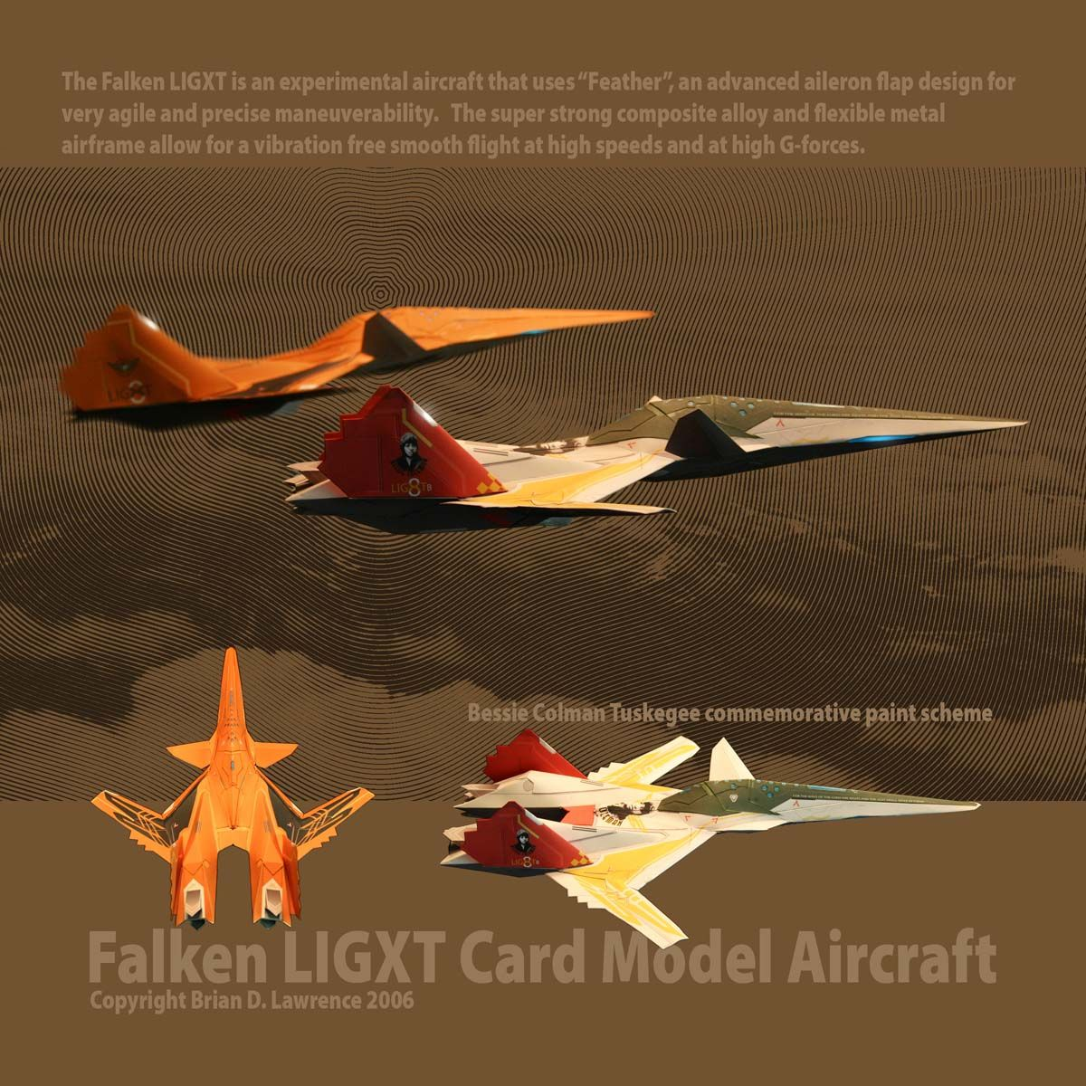 Card model aircraft based off of Ace Combat the video game