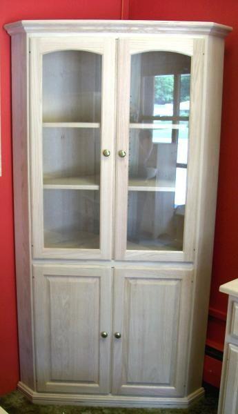 Unfinished Corner Cabinet Home Decor