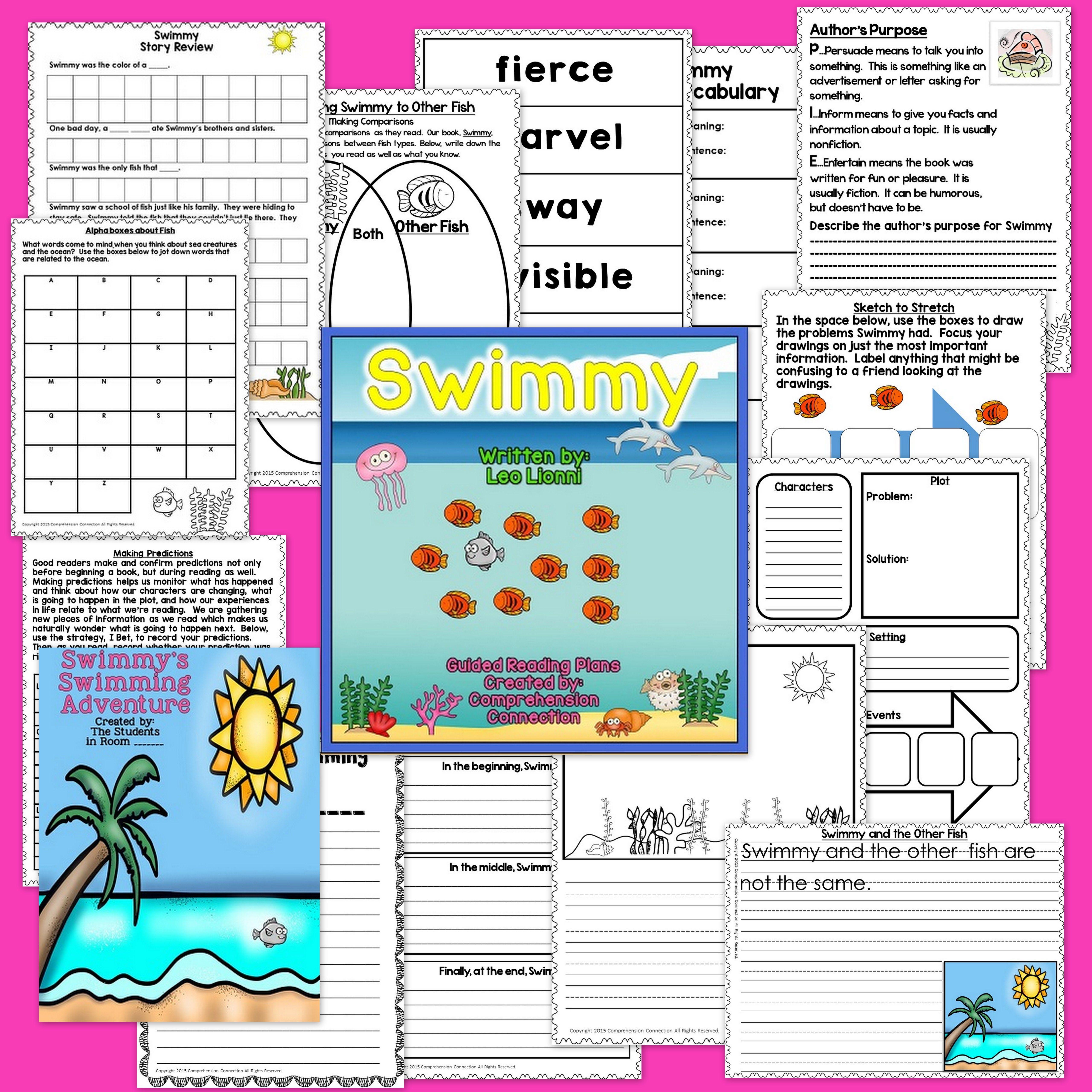Swimmy By Leo Lionni Worksheet