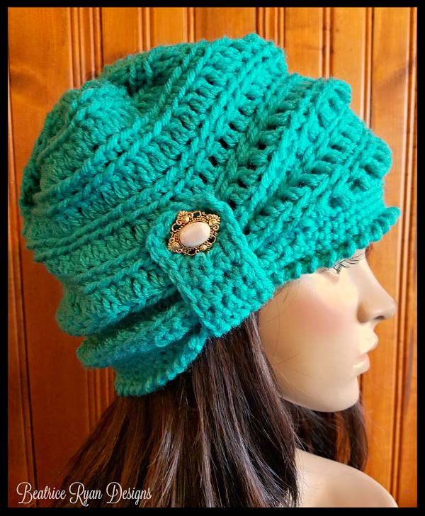 The Wintertide Beanie By Elena Hunt - Free Crochet Pattern ...