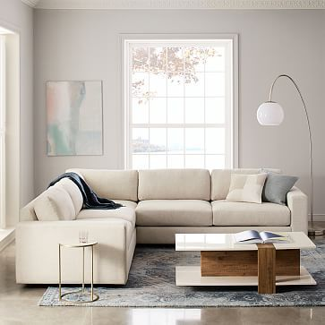 Urban 3 Piece L Shaped Sectional Sectional West Elm Sectional
