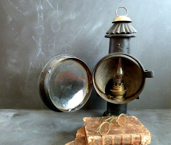 Antique French Carriage Lamp Lantern Lamp Oil Carriage Light
