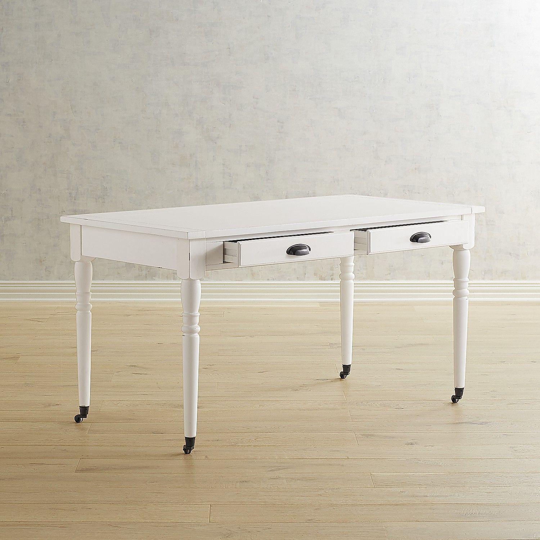 Magnolia home primitive white table desk products