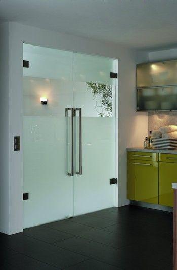 De glazen deur die nog ontbreekt maar dan de enkele versie huisje pinterest meubels - Glazen ingang ...