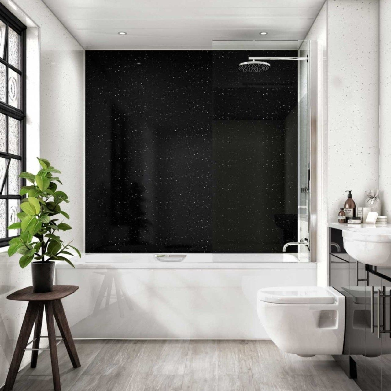 Multipanel Classic Stardust 2400mm X 598mm Unlipped Bathroom Wall Panel Bathroom Wall Panels Bathtub Walls Wall Paneling