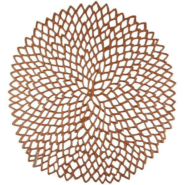chilewich pressed vinyl dahlia round placemat rose gold 20 liked on polyvore