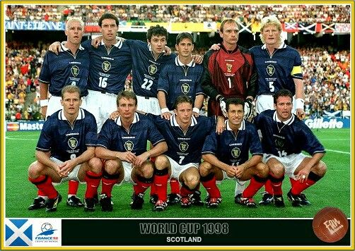 Scotland Team Group At The 1998 World Cup Finals Fifa World Cup France World Cup Teams World Cup