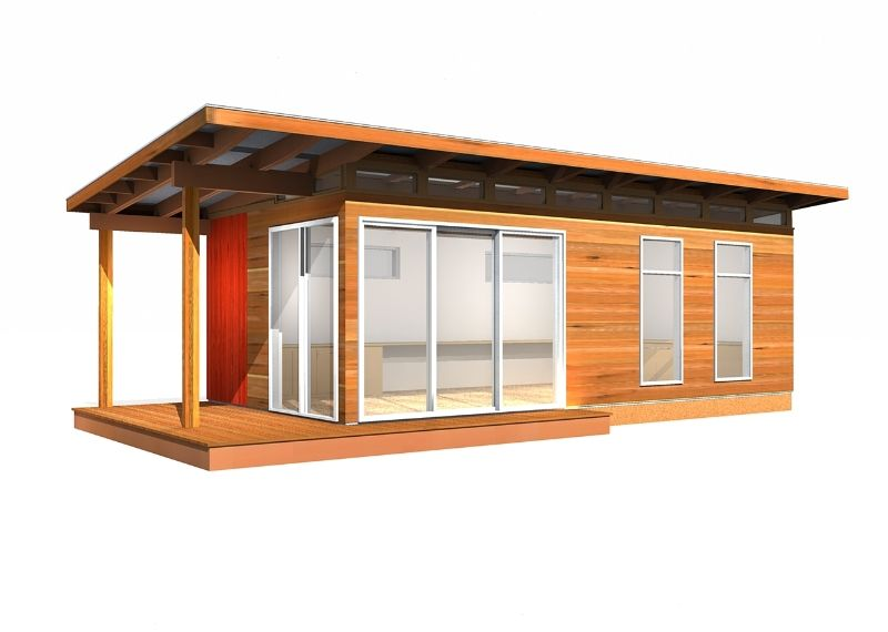 Modern-Shed Kit 24u0027 x 24u0027 Coastal backyard buildings Pinterest