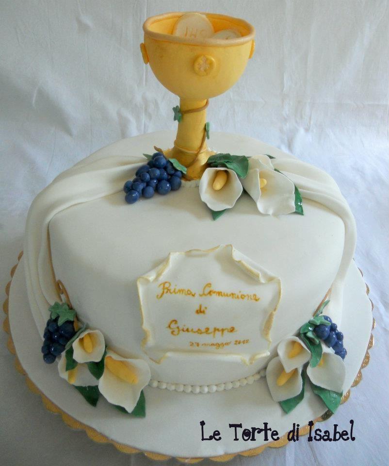 Torta prima comunione le torte di isabel pinterest for Decorazione torte prima comunione