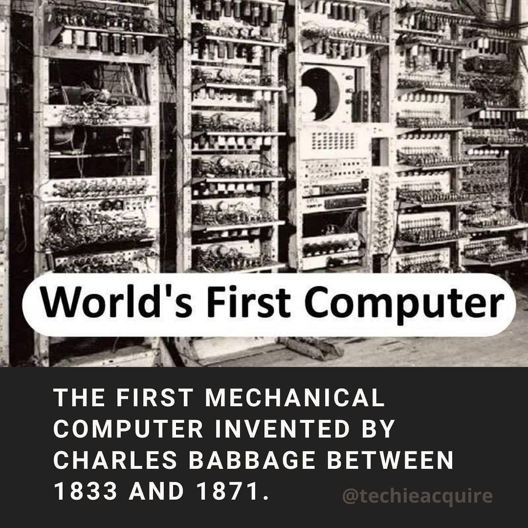 First Computer invented by British mathematician Charles