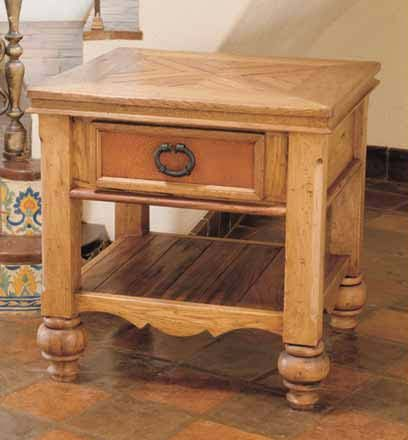 Cordoba Rustic End Table Western Tail And Tables Style Shown In