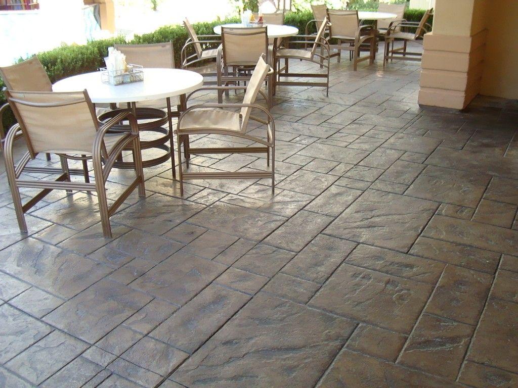 Exterior Decorative Concrete Finish Restaurant Patio