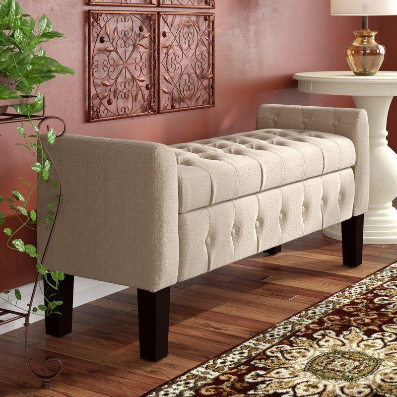 Borba upholstered storage bench upholstered storage