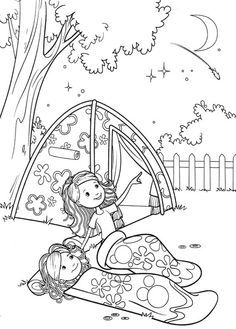 Girl Scout Camping Coloring Pages Groovy Girls Camp Coloring Pages Girl Scout Camping Camping Coloring Pages Girl Scouts
