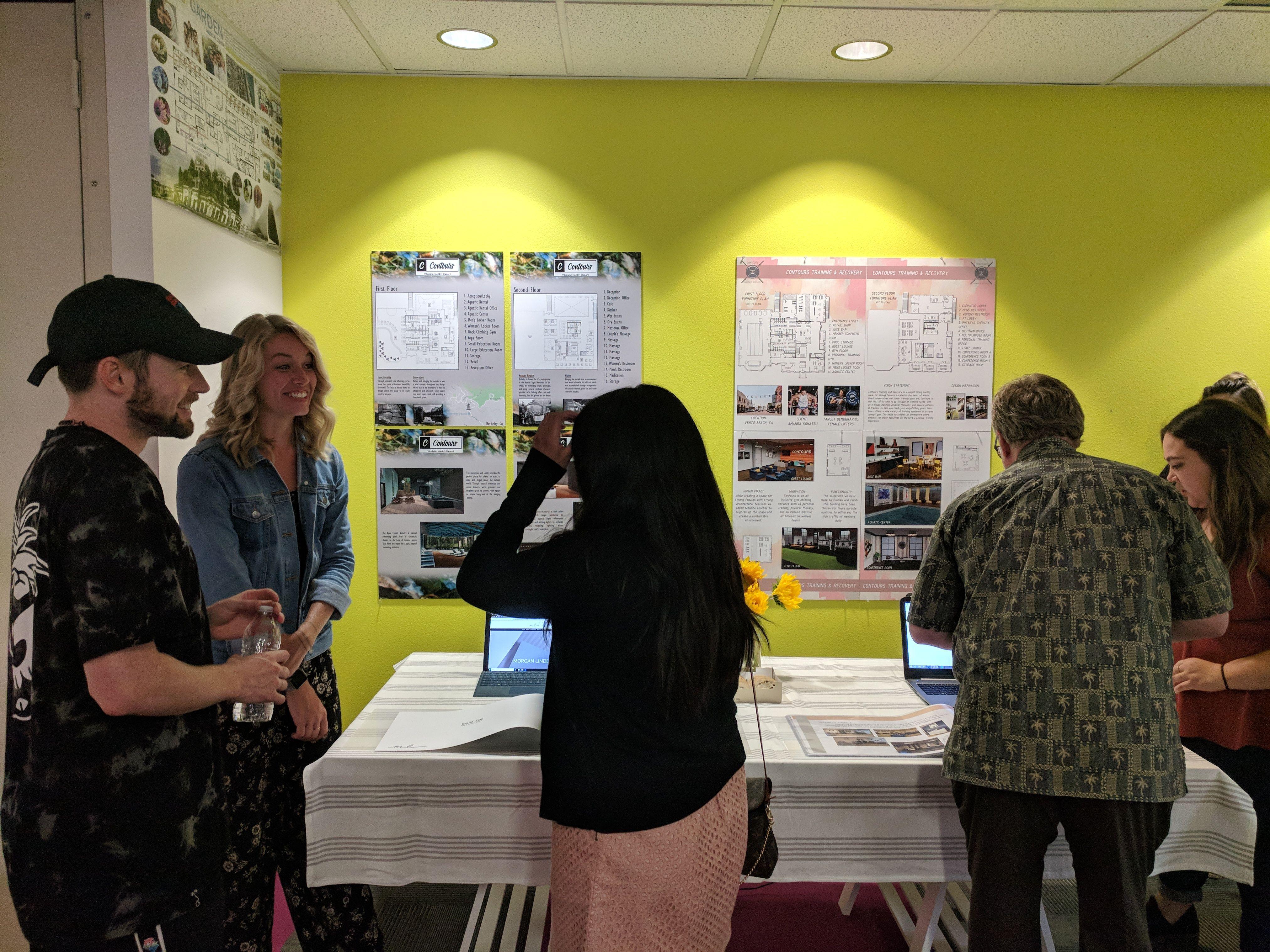 Students Demonstrate Their Websites And Portfolios For Potential Employers As The Culminatio Interior Design Degree Interior Design School Best Interior Design