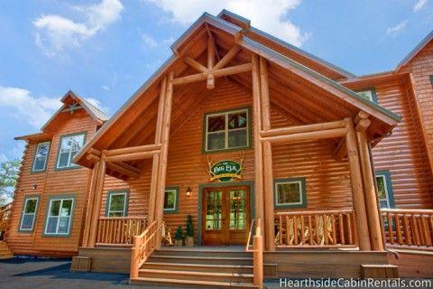 Find A Large Cabin Rental In Gatlinburg Pigeon Forge Tn Elk Lodge Cabin Cabin Rentals