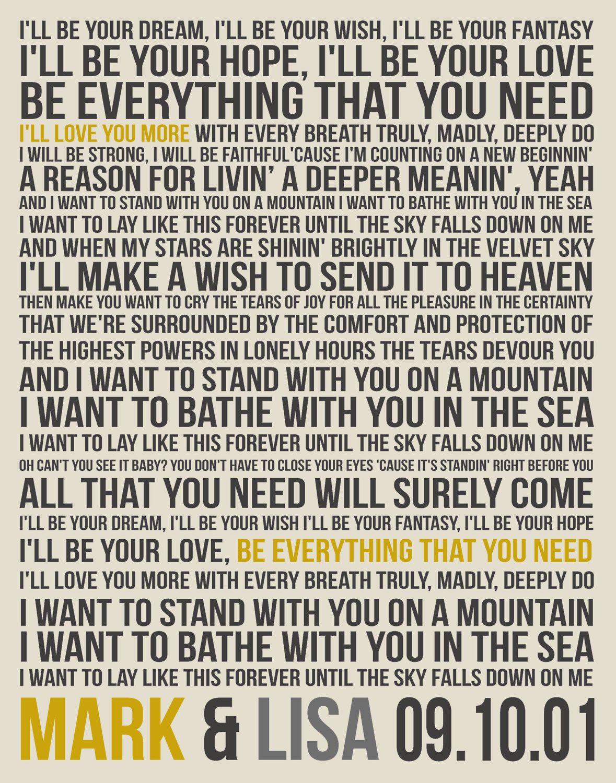 The wedding song without lyrics