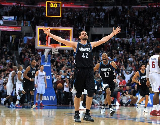 """Kevin Love after draining a game winning 3 against the Clips in LA, """"Are you not entertained?!"""""""