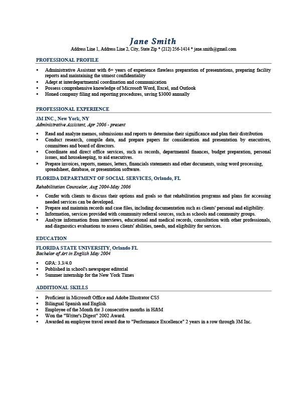 Professional Profile Resume Resume Template Johansson Dark Blue  Geography  Pinterest