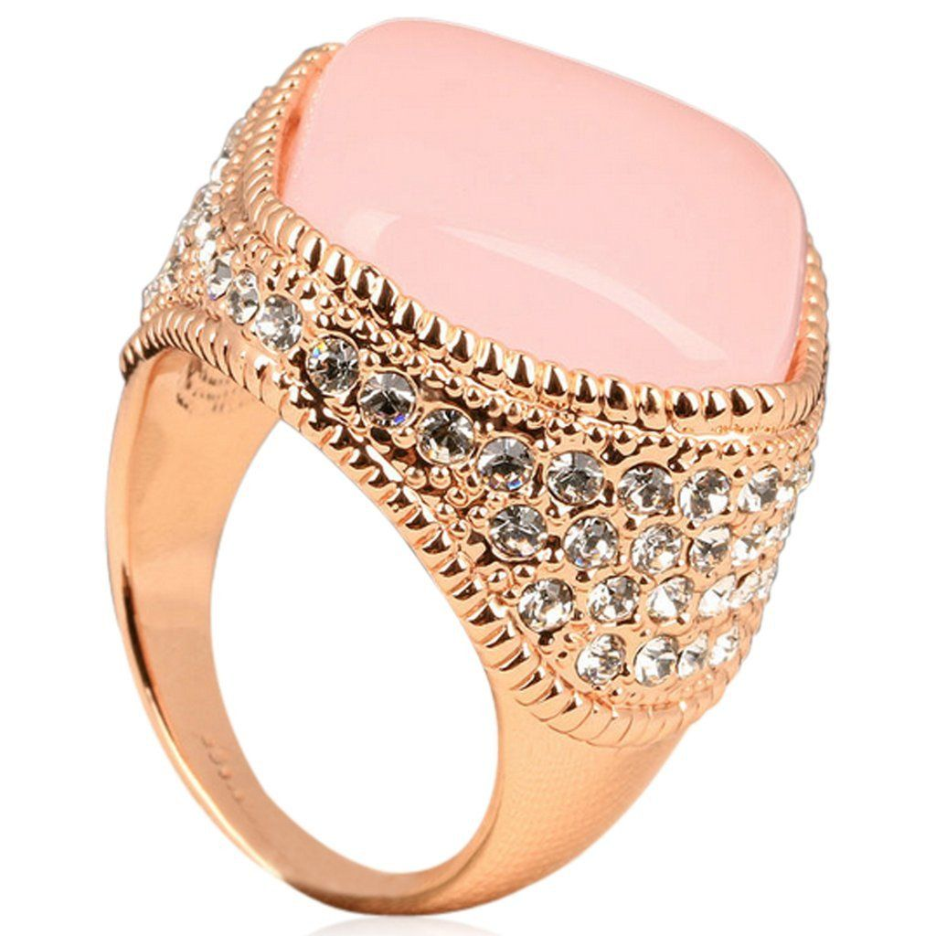 Passione Rosa Opale Luxury Large Pink Opal CZ Diamond Rose Gold
