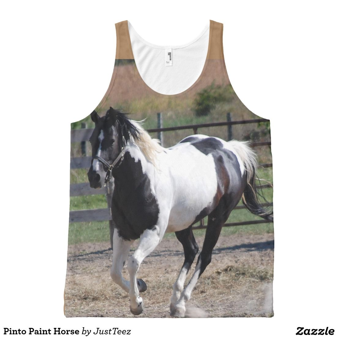 Pinto Paint Horse All-Over Print Tank Top