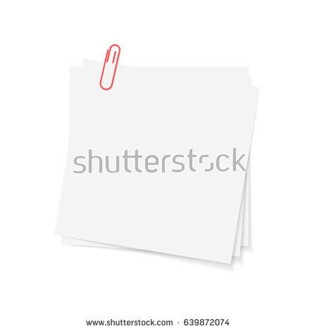 Square Vector Photo Frame With Clips Empty Realistic Paper Sticker