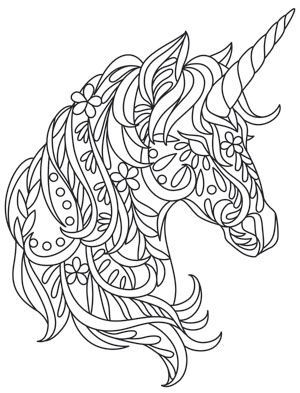 Bohemian Unicorn Design Uth13393 From Http Urbanthreads Com Unicorn Coloring Pages Coloring Pages Quilling Patterns