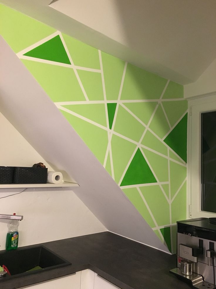 Tolle Interessante Zentangle Wand Handgemalt