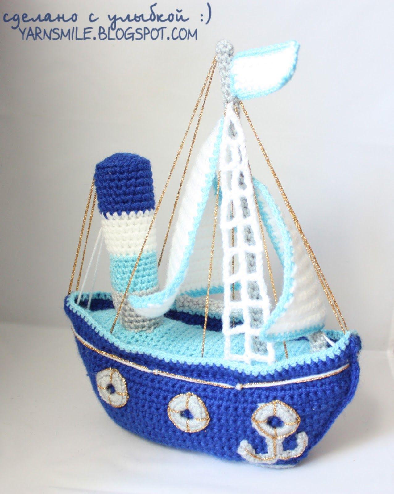 Кораблик - описание | Juguetes en Crochet | Crochet, Crochet Toys y ...