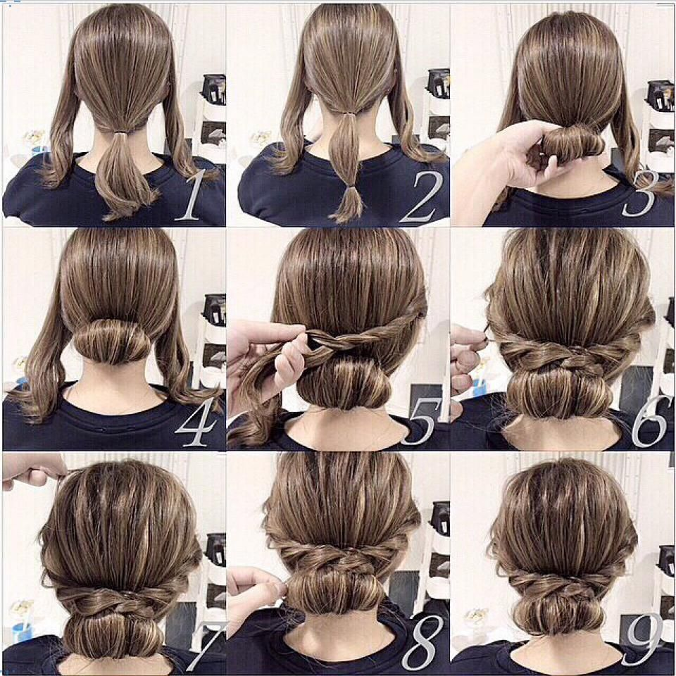 easy twist and plait hairstyle | bun hairstyles | hair