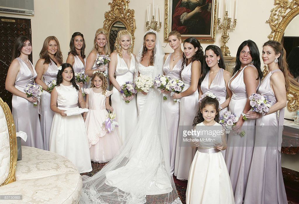 Vanessa Trump Poses For A Photo With Her Bridesmaids Including Sister Veronika Haydon And In Law Ivanka After Wedding Ceremony At The