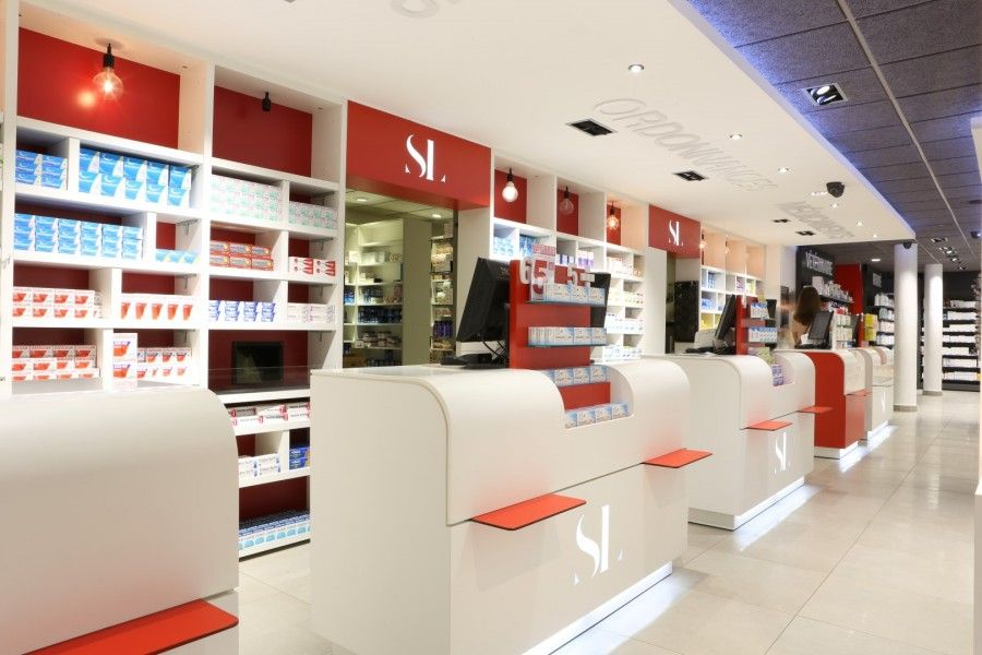 Comptoir Sl Pharmacie Gautier Pharmacy Design Retail Store Interior Store Interior