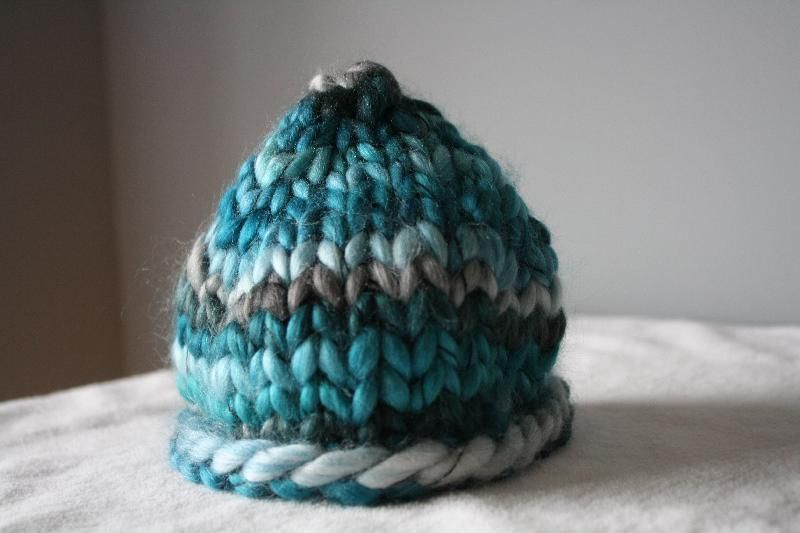 Newborn Chunky Beanie Knitting And Sewing Pinterest Knit
